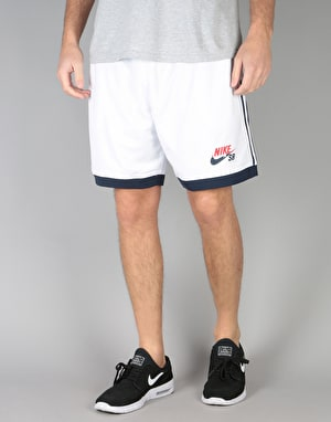 Nike SB Court Shorts - White/Obsidian/University Red