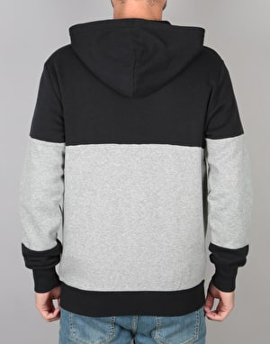 Converse Core Full Zip Hoodie - Black Vintage Grey Heather