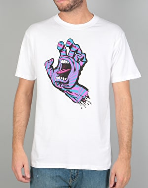 Santa Cruz Party Hand T-Shirt - White