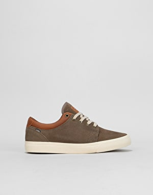 Globe GS Boys Skate Shoes - Walnut/Off White