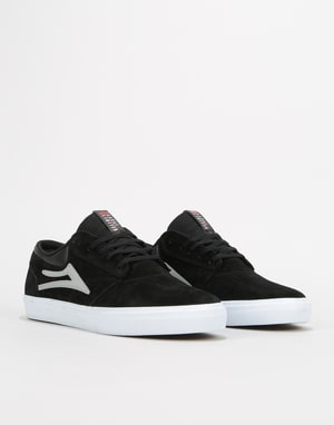 Lakai Griffin Skate Shoes - Black/Reflective Suede