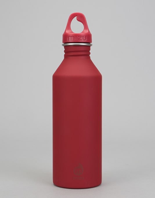 MIZU M8 Logo Soft Touch 800ml/27oz Water Bottle - Red/Red