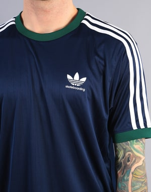 Adidas Clima Club Jersey - Night Indigo/Collegiate Green/White