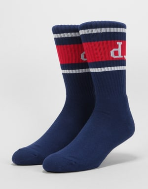 Diamond Supply Co. Un Polo High Top Socks - Navy/Red