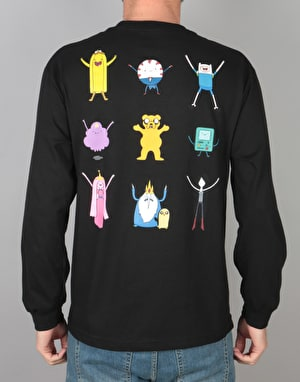Grizzly x Adventure Time Lets Get Stupid L/S T-Shirt - Black