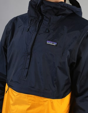 Patagonia Torrentshell Pullover Jacket - Navy Blue w/Rugby Yellow