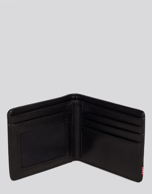 Herschel Supply Co. Hank Leather Wallet - Black Pebble