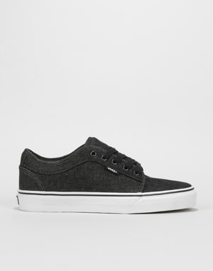 Vans Chukka Low Pro Skate Shoes - (Denim) Black/Black