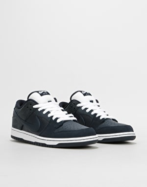 Nike SB x Murasaki Dunk Low TRD QS Skate Shoes - Dark Obsidian-White