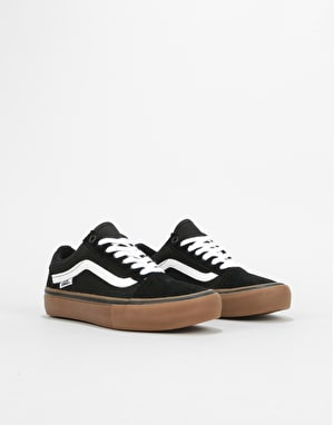 Vans Old Skool Pro Womens Trainers - Black/White/Medium Gum