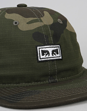 Obey Overthrow 6 Panel Cap - Camo