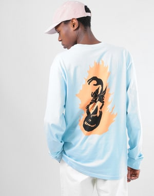 Welcome Creepers L/S T-Shirt - Powder Blue