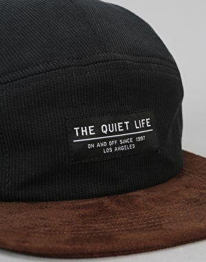 The Quiet Life Cord Combo 5 Panel Cap - Black