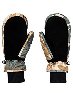 DC Shelter 2018 Snowboard Mitts - British Woodland Camo