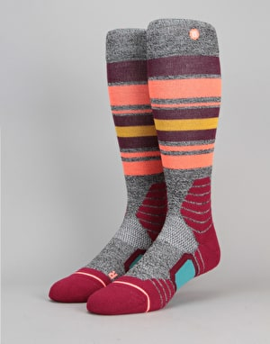 Stance Hot Creek Park Snowboard Socks - Wine