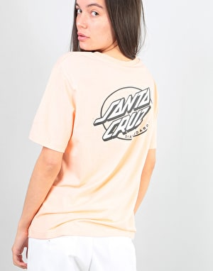 Santa Cruz Oval Dot Womens T-Shirt - Blush