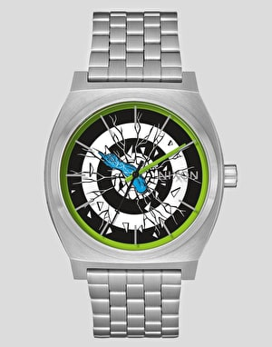 Nixon x Santa Cruz Time Teller Watch - Silver/Roskopp