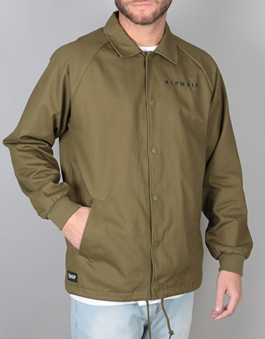 RIPNDIP Praying Hands Cotton Twill Jacket - Olive