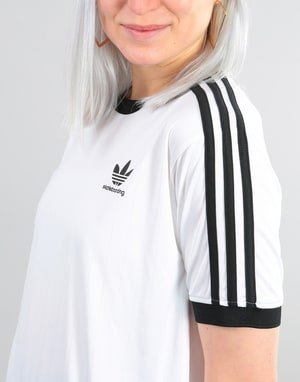 Adidas Womens Clima Club Oversized Jersey - White/Black