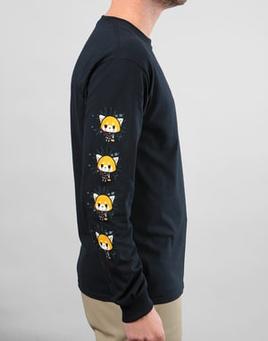 Chocolate x Sanrio Aggretsuko L/S T-Shirt - Black