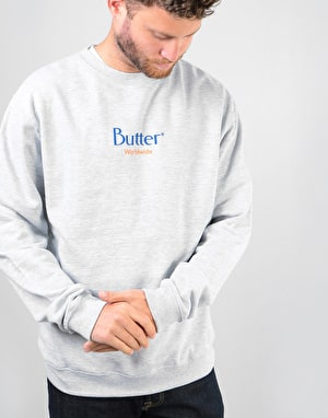 Butter Goods Classic Logo Crewneck Sweatshirt - Heather Grey