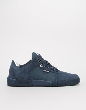 Supra Fulton Skate Shoes - Navy/Navy Suede