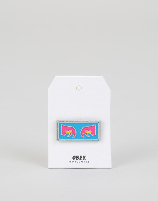 Obey Eyes Pin - Blue Multi