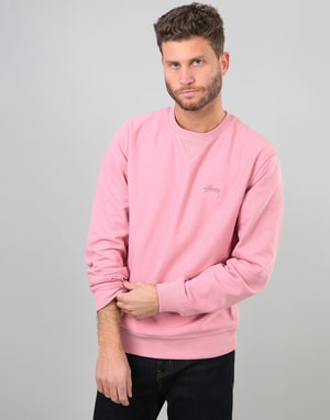Stüssy Stock L/S Terry Crew - Pink