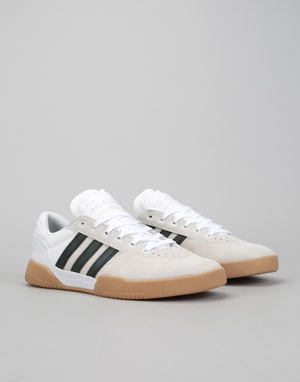 Adidas City Cup Skate Shoes - White/Core Black/Gum