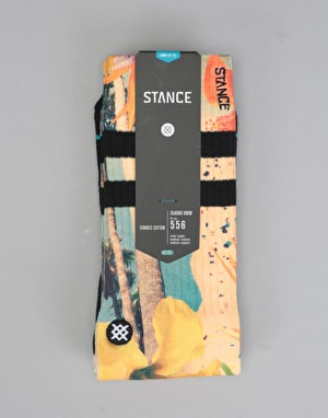 Stance Drone Classic Crew Socks - Yellow