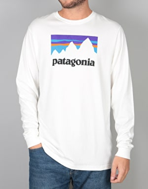 Patagonia L/S Shop Sticker T-Shirt - White