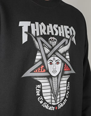 Thrasher Goddess Crew - Black