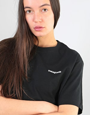 Patagonia Womens P-6 Logo Oversized T-Shirt - Black