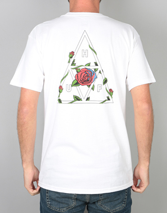 HUF Roses Triple Triangle T-Shirt - White