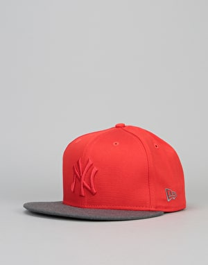 New Era 9Fifty New York Yankees Pop Snapback Cap - Heather/Red