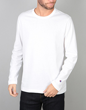 Champion Crewneck L/S T-Shirt - WHT