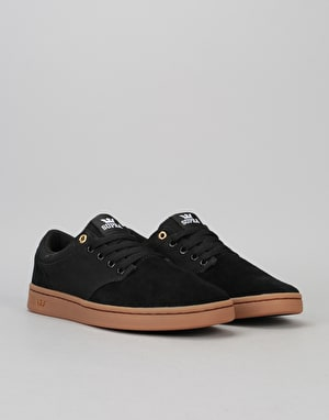 Supra Chino Court Skate Shoes - Black-Gum
