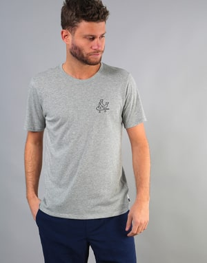 Nike SB Dri-Fit Swooshie T-Shirt - Dk Grey Heather/Black