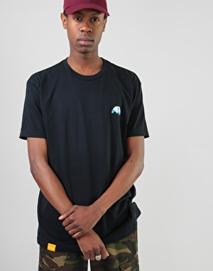 Enjoi Small Panda Logo Premium T-Shirt - Black/Blue
