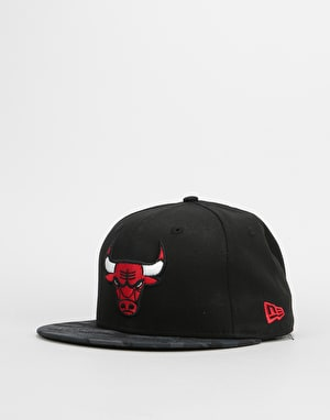 New Era 9Fifty NBA Chicago Bulls Team Camo Snapback Cap - Black