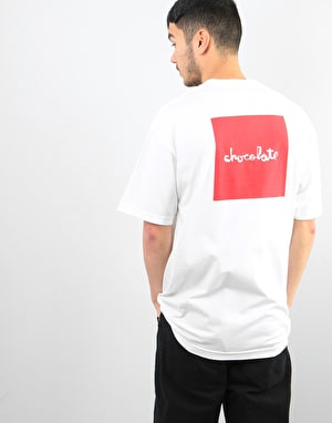 Chocolate Red Square T-Shirt - White