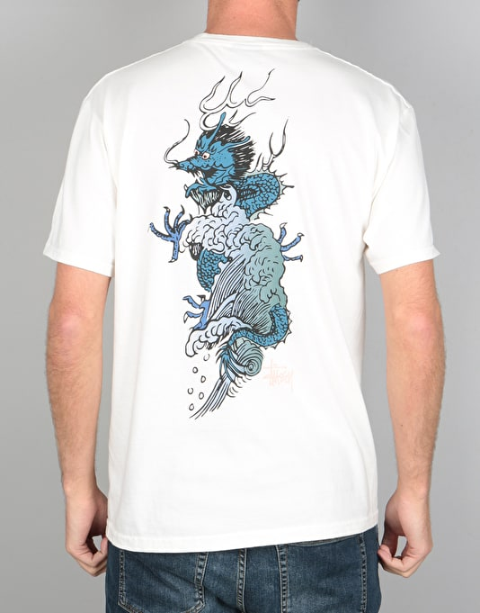 Stüssy Wave Dragon Pigment Dyed T-Shirt - Natural