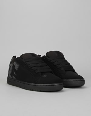 DC Court Graffik SE Skate Shoes - Black Destroy Wash