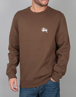 Stüssy Basic Stüssy Crew - Chocolate