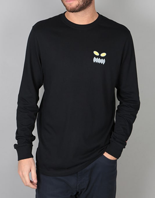RVCA x Toy Machine L/S T-Shirt - Black