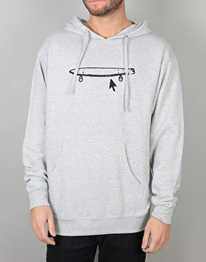 Crailtap Logo Pullover Hoodie - Grey Heather