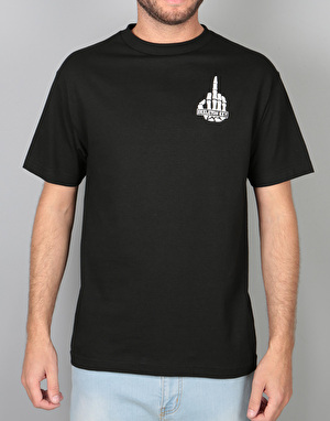 Skeleton Key Middle Finger T-Shirt - Black