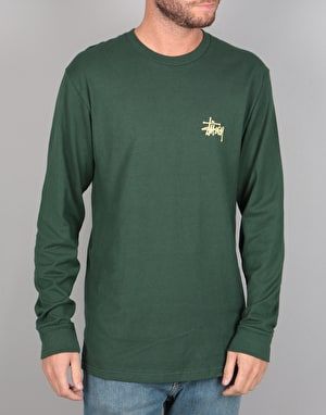 Stüssy Basic Stüssy L/S T-Shirt - Dark Forest