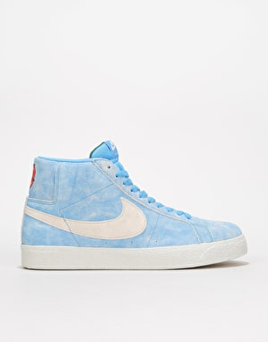 Nike SB Zoom Blazer Mid Skate Shoes - University Blue/Light Bone-Red