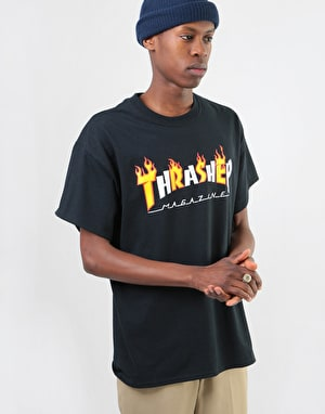 Thrasher Flame Mag T-Shirt - Black